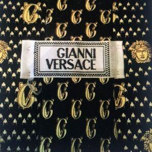VTG  Versace Medusa & GV logo Tie /Italy/NWOT